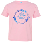 "Bible Verse Toddler Jersey T-Shirt - ""Psalms 61:2"" Design 19 - Meditate Healing Christian Store"
