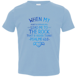 "Bible Verse Toddler Jersey T-Shirt - ""Psalms 61:2"" Design 17 - Meditate Healing Christian Store"