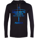 "Bible Verse Men Long Sleeve T-Shirt Hoodie - ""Psalm 61:2"" Design 1 - Meditate Healing Christian Store"