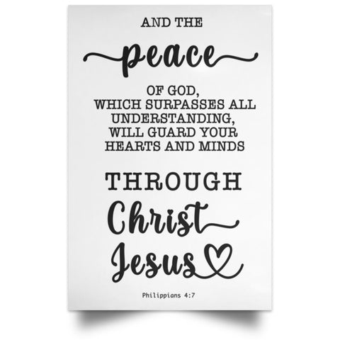 Minimalist Typography Poster - Guard Your Heart Through Christ Jesus ~Philippians 4:7~
