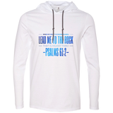 "Bible Verse Men Long Sleeve T-Shirt Hoodie - ""Psalm 61:2"" Design 4 - Meditate Healing Christian Store"