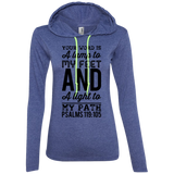 "Bible Verse Ladies' Long Sleeve T-Shirt Hoodie - ""Psalm 119:105"" Design 3 (Black Font) - Meditate Healing Christian Store"