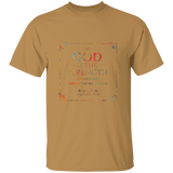 "Bible Verse Men 5.3 oz. T-Shirt - ""Psalm 73:26"" Design 10 - Meditate Healing Christian Store"