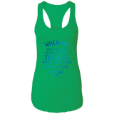 "Bible Verses Ladies Ideal Racerback Tank - ""Psalm 61:2"" Design 17 - Meditate Healing Christian Store"