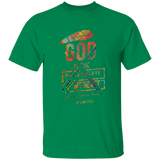 "Bible Verse Men 5.3 oz. T-Shirt - ""Psalm 73:26"" Design 13 - Meditate Healing Christian Store"
