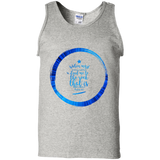 "Bible Verse Men 100% Cotton Tank Top - ""Psalm 61:2"" Design 15 - Meditate Healing Christian Store"