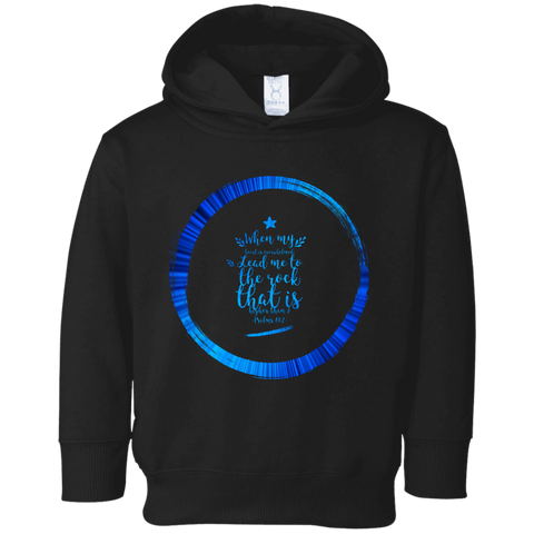 "Bible Verses Toddler Fleece Hoodie - ""Psalm 61:2"" Design 15 - Meditate Healing Christian Store"