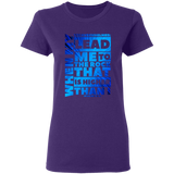 "Bible Verses Ladies' 5.3 oz. T-Shirt - ""Psalm 61:2"" Design 20 - Meditate Healing Christian Store"