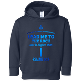 "Bible Verses Toddler Fleece Hoodie - ""Psalm 61:2"" Design 1 - Meditate Healing Christian Store"