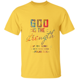 "Bible Verse Men 5.3 oz. T-Shirt - ""Psalm 73:26"" Design 6 - Meditate Healing Christian Store"