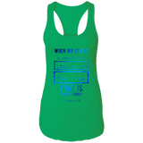 "Bible Verses Ladies Ideal Racerback Tank - ""Psalm 61:2"" Design 5 - Meditate Healing Christian Store"