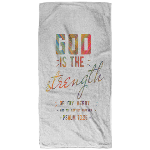 Bible Verses Bath Towel 32x64 - Psalm 73:26 (Design 6) - Meditate Healing Christian Store