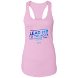 "Bible Verses Ladies Ideal Racerback Tank - ""Psalm 61:2"" Design 12 - Meditate Healing Christian Store"