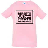 "Bible Verse Infant Jersey T-Shirt - ""Psalm 119:105"" Design 13 (Black Font) - Meditate Healing Christian Store"