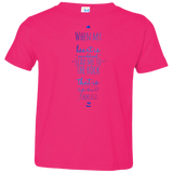 "Bible Verse Toddler Jersey T-Shirt - ""Psalms 61:2"" Design 3 - Meditate Healing Christian Store"