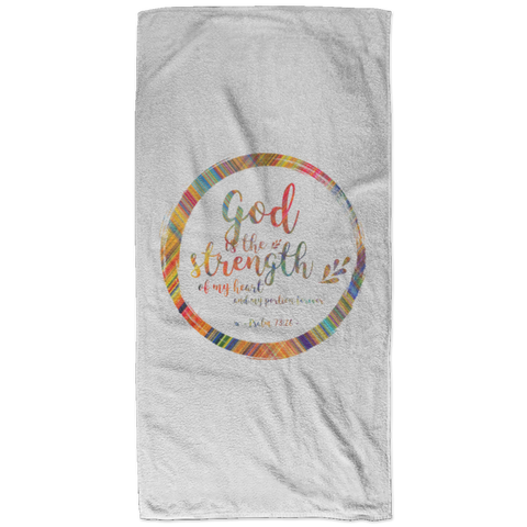 Bible Verses Bath Towel 32x64 - Psalm 73:26 (Design 9) - Meditate Healing Christian Store