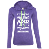 "Bible Verse Ladies' Long Sleeve T-Shirt Hoodie - ""Psalm 119:105"" Design 15 (White Font) - Meditate Healing Christian Store"