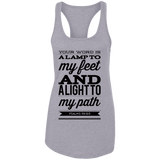 "Bible Verses Ladies Ideal Racerback Tank - ""Psalm 119:105"" Design 15 (Black Font) - Meditate Healing Christian Store"