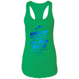 "Bible Verses Ladies Ideal Racerback Tank - ""Psalm 61:2"" Design 14 - Meditate Healing Christian Store"
