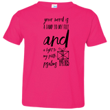 "Bible Verse Toddler Jersey T-Shirt - ""Psalm 119:105"" Design 18 (Black Font) - Meditate Healing Christian Store"