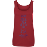 "Bible Verses Ladies' 100% Ringspun Cotton Tank Top - ""Psalm 61:2"" Design 2 - Meditate Healing Christian Store"