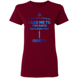 "Bible Verses Ladies' 5.3 oz. T-Shirt - ""Psalms 61:2"" Design 1 - Meditate Healing Christian Store"