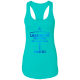 "Bible Verses Ladies Ideal Racerback Tank - ""Psalm 61:2"" Design 1 - Meditate Healing Christian Store"