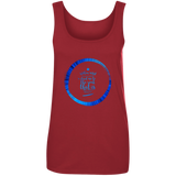 "Bible Verses Ladies' 100% Ringspun Cotton Tank Top - ""Psalm 61:2"" Design 15 - Meditate Healing Christian Store"