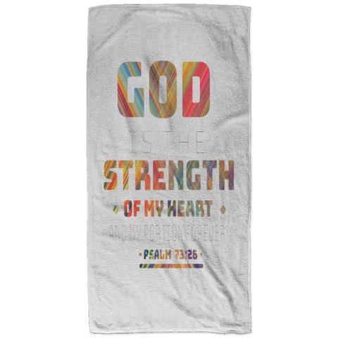 Bible Verses Bath Towel 32x64 - Psalm 73:26 (Design 11) - Meditate Healing Christian Store