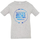 "Bible Verse Infant Jersey T-Shirt - ""Psalm 61:2"" Design 8 - Meditate Healing Christian Store"