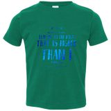 "Bible Verse Toddler Jersey T-Shirt - ""Psalms 61:2"" Design 11 - Meditate Healing Christian Store"