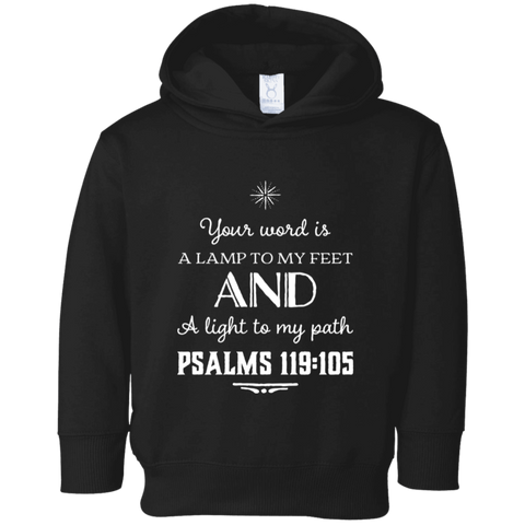 "Bible Verse Toddler Fleece Hoodie - ""Psalm 119:105"" Design 5 - Meditate Healing Christian Store"