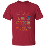 "Bible Verse Men 5.3 oz. T-Shirt - ""Psalm 73:26"" Design 15 - Meditate Healing Christian Store"