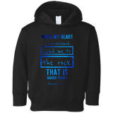 "Bible Verses Toddler Fleece Hoodie - ""Psalm 61:2"" Design 5 - Meditate Healing Christian Store"