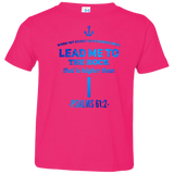 "Bible Verse Toddler Jersey T-Shirt - ""Psalms 61:2"" Design 1 - Meditate Healing Christian Store"