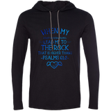 "Bible Verse Men Long Sleeve T-Shirt Hoodie - ""Psalm 61:2"" Design 17 - Meditate Healing Christian Store"