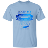"Bible Verse Men 5.3 oz. T-Shirt - ""Psalm 61:2"" Design 13 - Meditate Healing Christian Store"