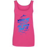 "Bible Verses Ladies' 100% Ringspun Cotton Tank Top - ""Psalm 61:2"" Design 14 - Meditate Healing Christian Store"