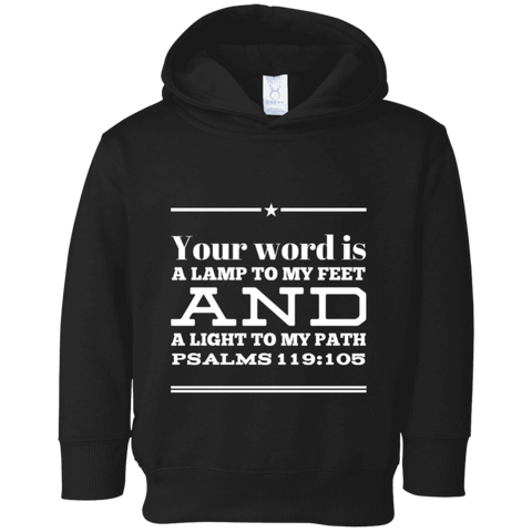 "Bible Verse Toddler Fleece Hoodie - ""Psalm 119:105"" Design 10 - Meditate Healing Christian Store"