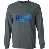 "Bible Verse Long Sleeve Ultra Cotton T-Shirt - ""Psalm 61-2"" Design 12 - Meditate Healing Christian Store"