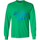 "Bible Verse Long Sleeve Ultra Cotton T-Shirt - ""Psalm 61-2"" Design 11 - Meditate Healing Christian Store"