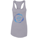 "Bible Verses Ladies Ideal Racerback Tank - ""Psalm 61:2"" Design 19 - Meditate Healing Christian Store"