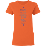 "Bible Verses Ladies' 5.3 oz. T-Shirt - ""Psalm 61:2"" Design 3 - Meditate Healing Christian Store"
