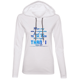 "Bible Verse Ladies' Long Sleeve T-Shirt Hoodie - ""Psalm 61:2"" Design 6 - Meditate Healing Christian Store"