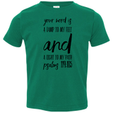 "Bible Verse Toddler Jersey T-Shirt - ""Psalm 119:105"" Design 9 (Black Font) - Meditate Healing Christian Store"