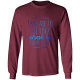 "Bible Verse Long Sleeve Ultra Cotton T-Shirt - ""Psalm 61:2"" Design 7 - Meditate Healing Christian Store"