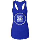 "Bible Verse Ladies Ideal Racerback Tank - ""Psalm 119:105"" Design 8 (White Font) - Meditate Healing Christian Store"