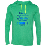 "Bible Verse Men Long Sleeve T-Shirt Hoodie - ""Psalm 61:2"" Design 6 - Meditate Healing Christian Store"