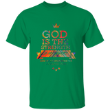 "Bible Verse Men 5.3 oz. T-Shirt - ""Psalm 73:26"" Design 8 - Meditate Healing Christian Store"