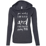 "Bible Verse Ladies' Long Sleeve T-Shirt Hoodie - ""Psalm 119:105"" Design 9 (White Font) - Meditate Healing Christian Store"